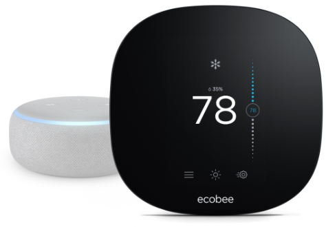 ecobee3 smart thermostat with Amazon Alexa device
